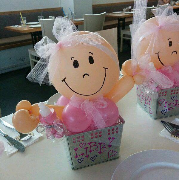 Centros De Mesa Para Baby Shower Faciles Y Economicos Image Globos Regalos De Baby Shower Decoracion Con Globos