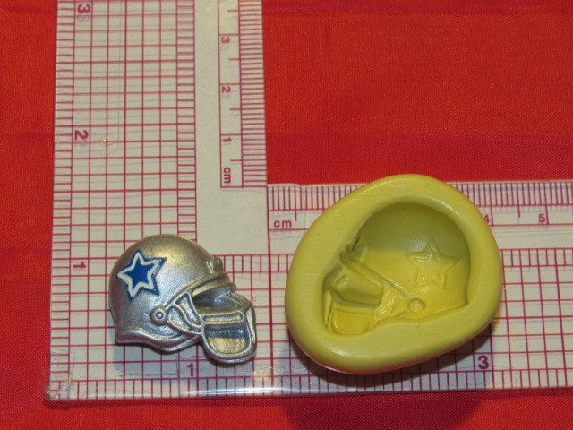NFL Football Dallas Cowboys Helmet Silicone Push Mold 404 Chocolate Candy Cake Decorating by LobsterTailMolds on Etsy