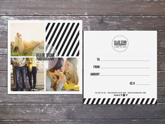 Ellie Modern double sided gift certificate design  by Deidamiah, $7.99