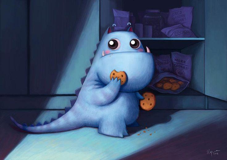 ektahx  Midnight Snack   mostro comegalletas