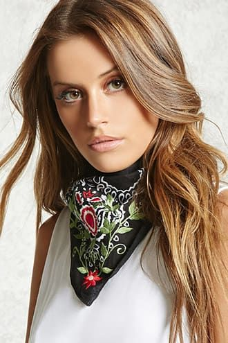 Product Name:Floral Satin Square Scarf, Category:ACC, Price:9.9