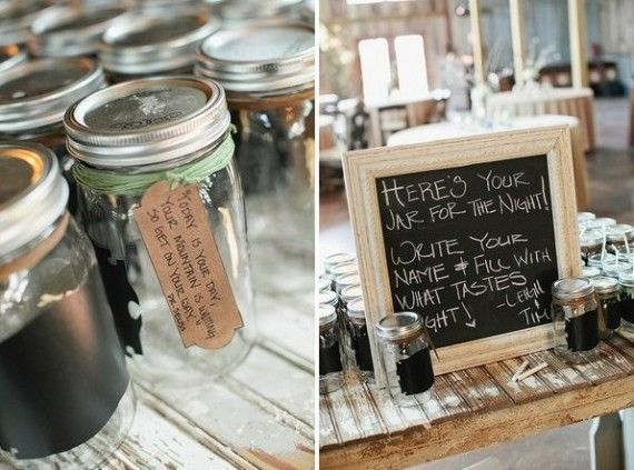 Handmade Wedding Round Up Chalkboard Mason Jar Drinking Gles Photo By Sms Photography Via Intimate Weddings