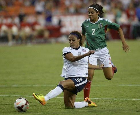 Sydney Leroux vs. Mexico, Sept. 3, 2013, RFK Stadium, Washington. The United States won 7-0. Leroux had 4 goals. (Toni L. Sandys/The Washington Post)