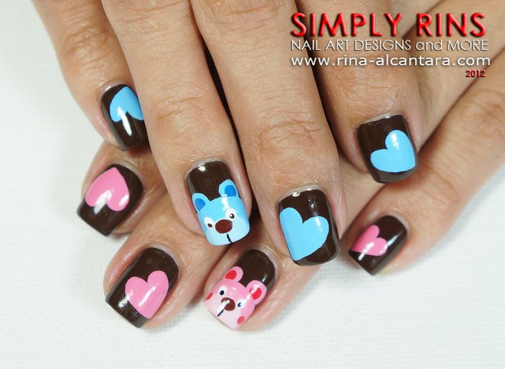 Nail Art Bears of pink-blue - Best 10+ Pink Blue Nails Ideas On Pinterest Glitter Nails