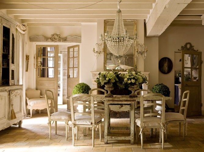 french country houseDining Rooms, Decor, Country Cottages, Shabby Chic, Country House, French House, Diningroom, French Country, French Style