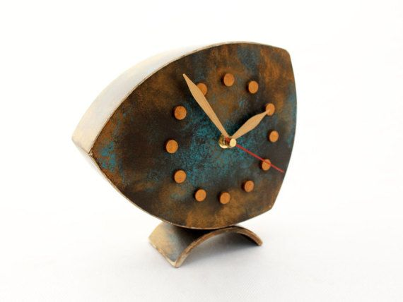 FREE SHIPPING  Table clock Desk Clock Clock by ClockWoodStudio