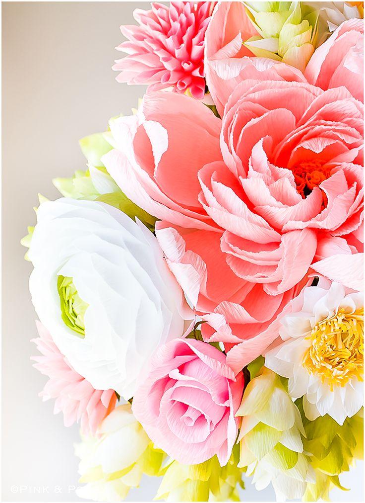 DIY paper flowers #DIY #DIYpaper