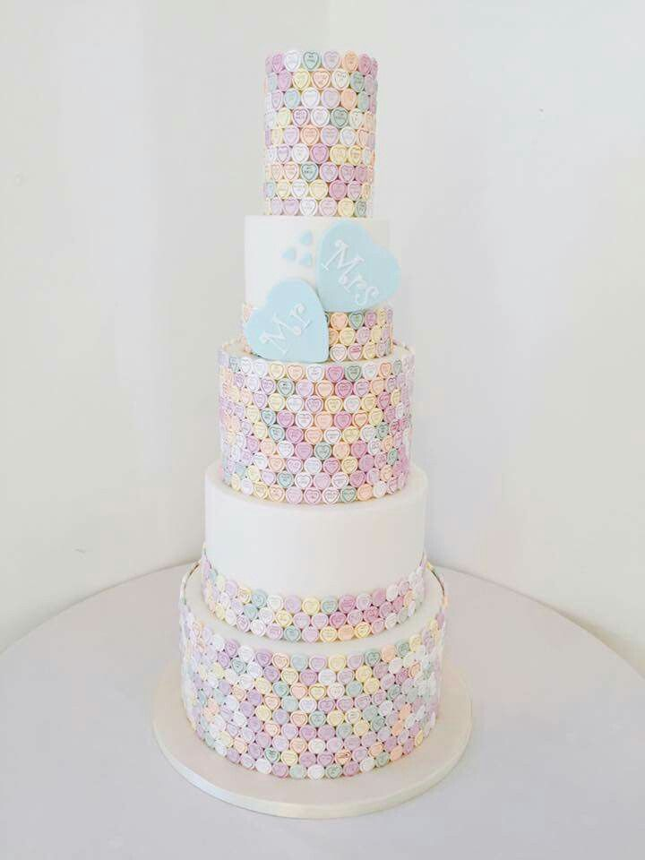 Loveheart wedding cake
