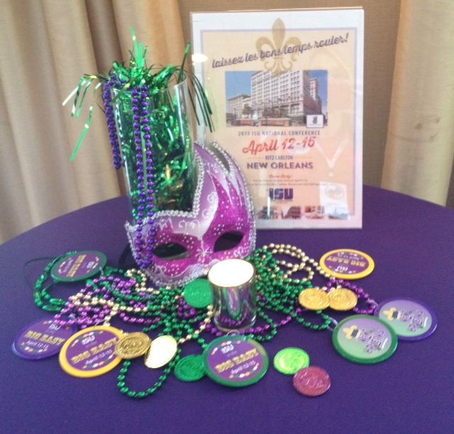 Mardi Gras Table Decor - Carrier Appreciation Reception