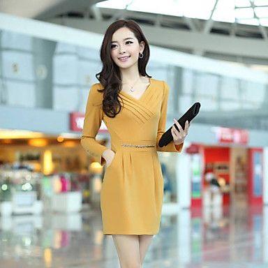 TS OL Style Layer Pleats Bub Sleeves Sheath Dress – USD $ 27.59