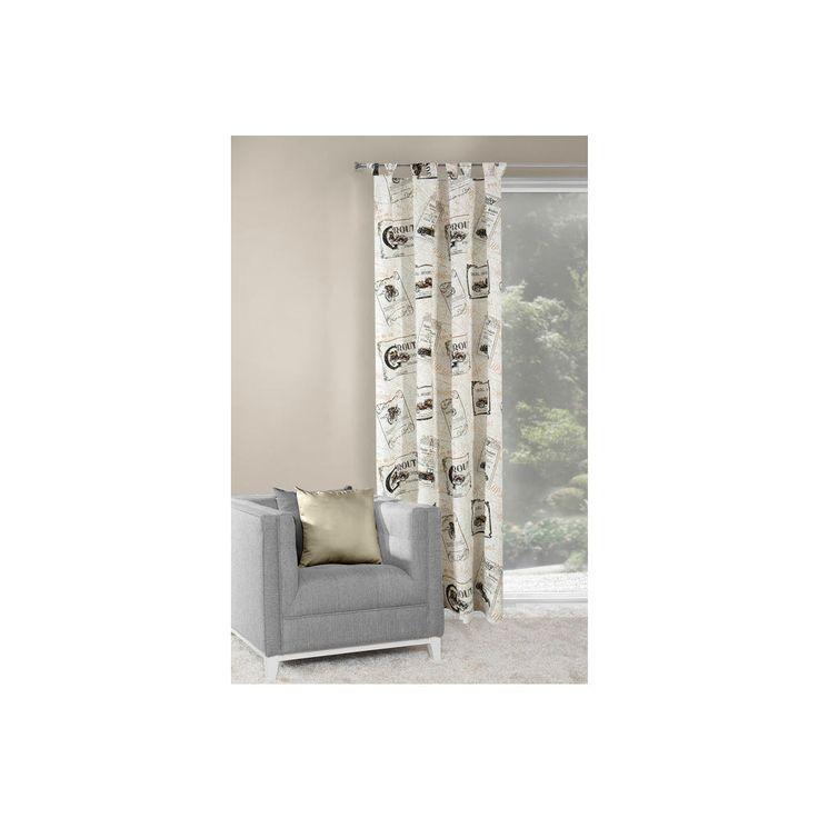 Dekorační závěs ROUT bílá/béžová 140x250 cm MyBestHome Varianta: závěs