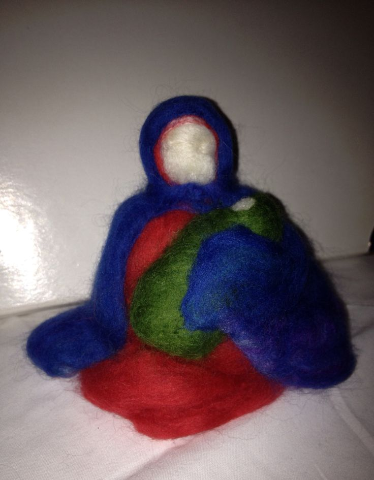Maria and Jesus (wool felted)