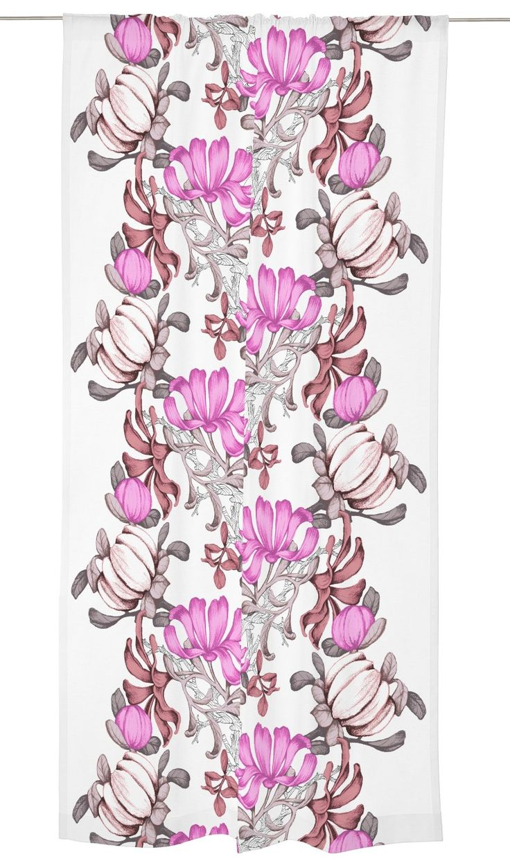 Nuppu-valmisverhon kuosi on Vallilan suunnittelija Saara Kurkelan suunnittelema. Kesäinen kukkakuosi tuo talven jälkeen lämpöä ja värejä sisustukseen. Runsaassa kuosissa osa kukkasista odottaa aukeamistaan, kun taas t