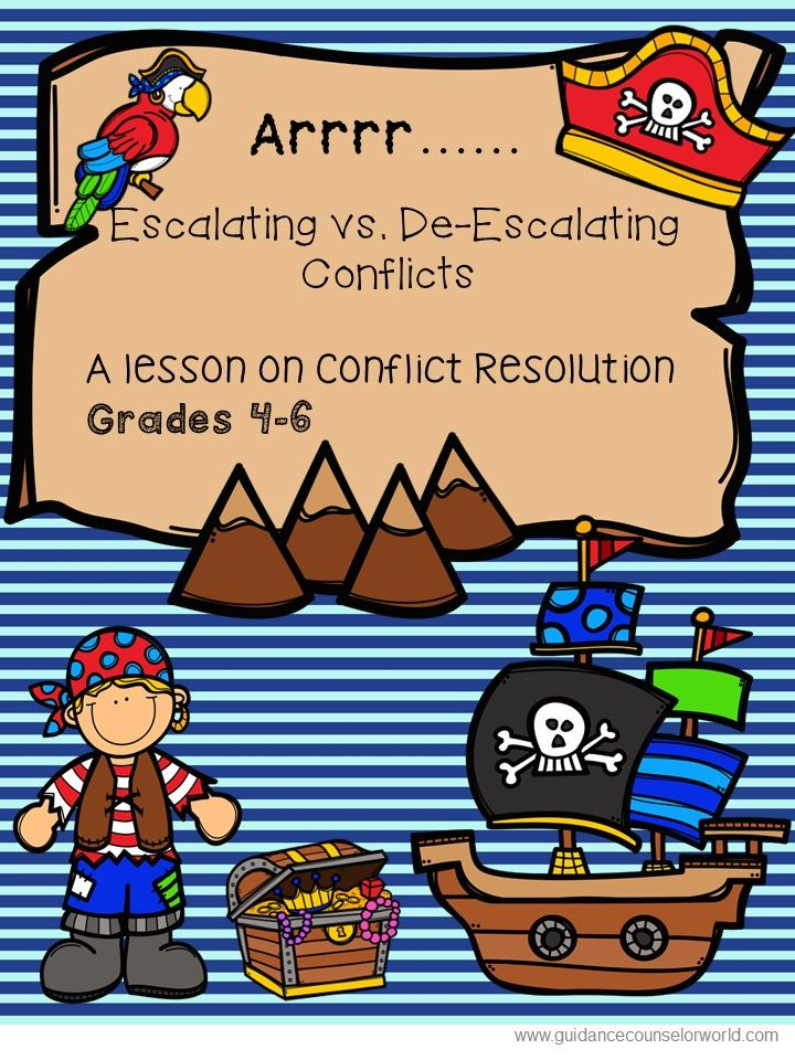 Guidance lesson on teaching Escalating/De-escalating Conflicts for Grades 4-6. Teach kids ways they make conflicts better and ways they can make conflicts worse.