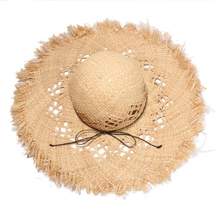 2017 Verão Grandes Brim Chapéus De Palha Para As Mulheres Moda Crochet Oco Out Ráfia Chapéu de Sol Praia Caps Sombreros Mujer Verano(China (Mainland))