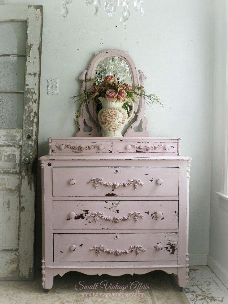 Pink Shabby Chic Dresser: Pink Dresser, Dresser With Mirror And Pink On Pinterest