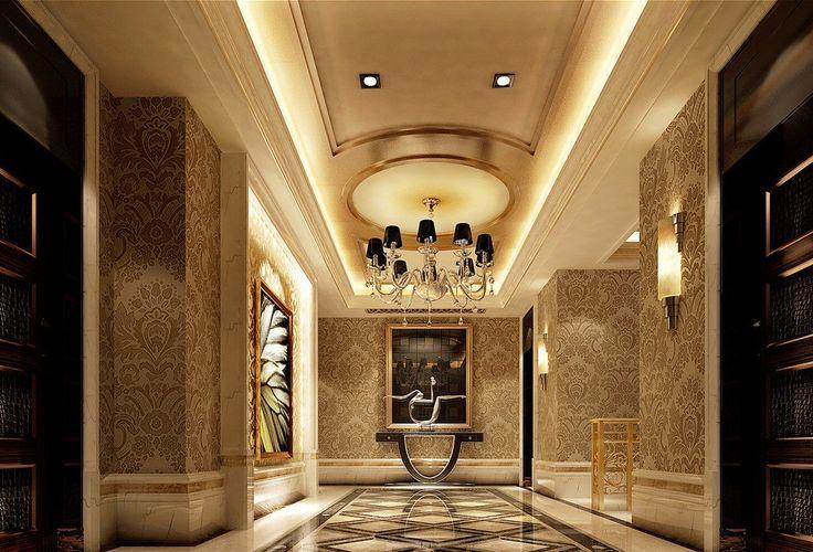 Get Home Design Ideas: Classical Wallpaper Design For Corridor Villa Get Latest