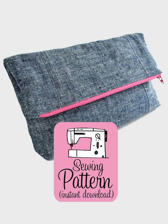 Fold-Over Clutch PDF Sewing Pattern Foldover by michellepatterns