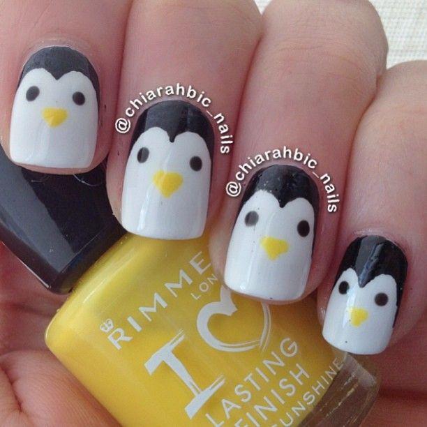 penguins by chiarahbic_nails #nail #nails #nailart