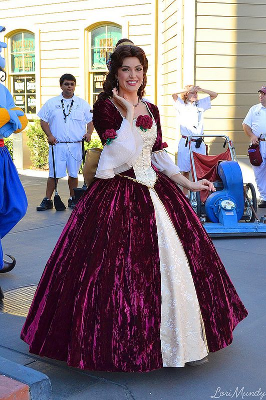Belle from beauty and the beast in her christmas dress for Wedding dress like belle from beauty and the beast