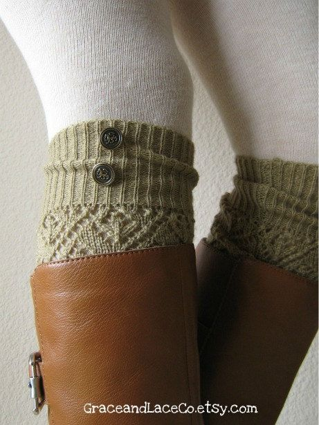 antique-y military button leg warmers