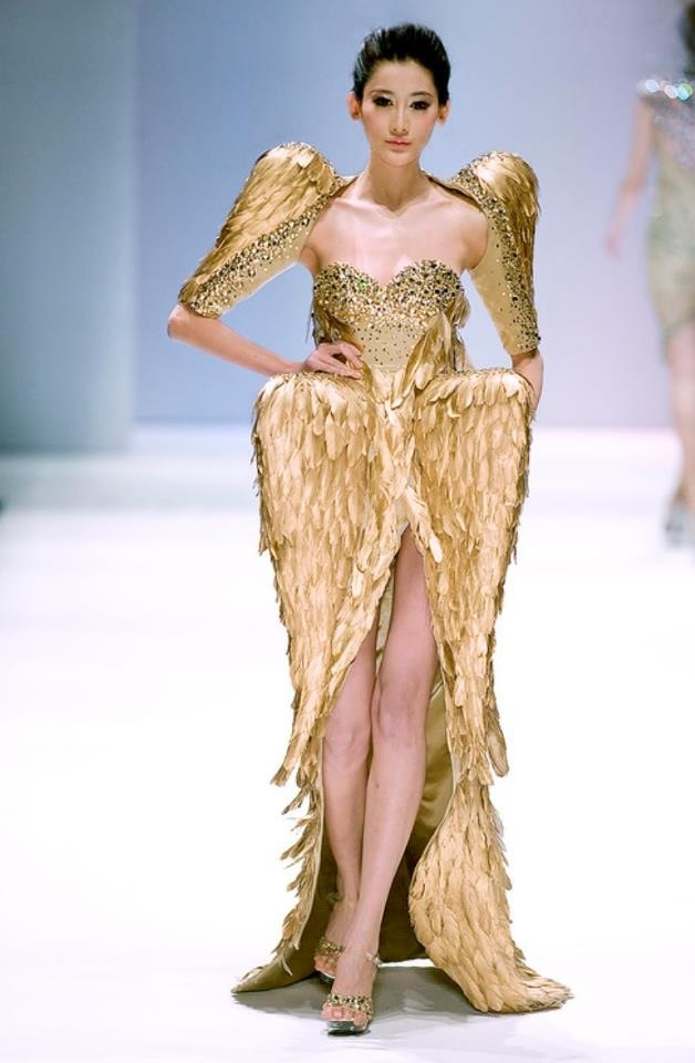 Metallic gold dress runway fashion rich bitch closet for High fashion couture dresses