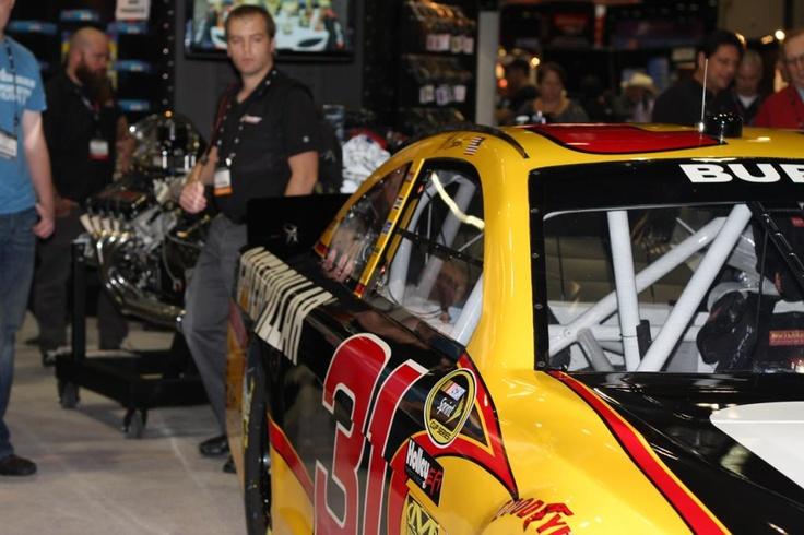 An up-close view of Burton's 'Caterpillar' at the 2012 PRI.