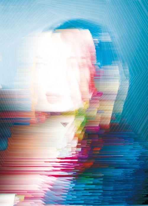 #glitch #art #portrait #female #glitched #datamashing #datamosh #circuit #bending #gacked