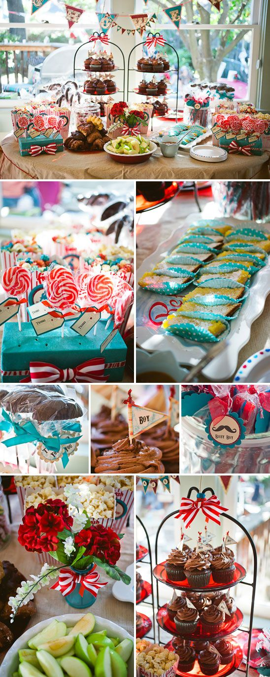 Festive Interactive Vintage Circus Themed Baby Shower | The Little Umbrella