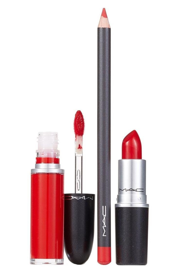 Loving this trio of must-have lip products that give a classic red lip in two ways.