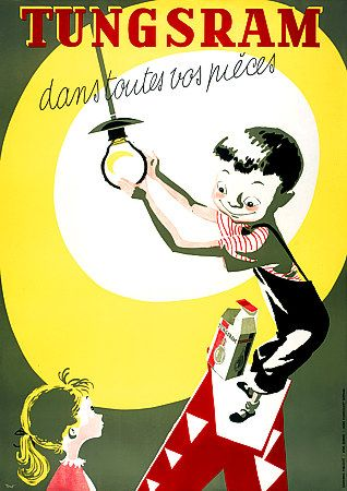 Vintage advertising posters | Tungsram lights