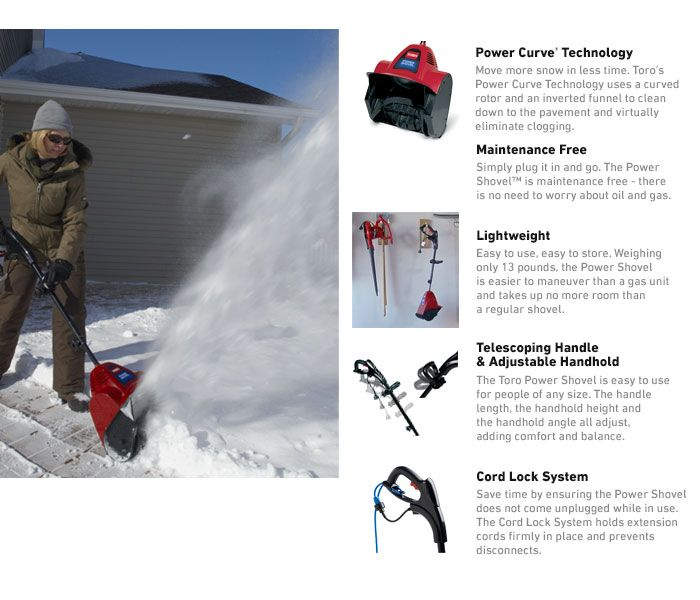 Toro 12 in. Power Shovel Electric Snow Blower-38361 - The Home Depot