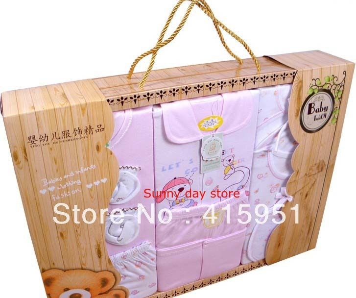 95c2c4b2616f0 Free Shipping Newborn baby gifts box 9pieces SET 100% cotton spring and  autumn new born baby clothes gifts box baby supplies on AliExpres…