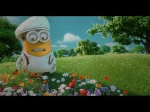 Despicable Me 2 - Minions sing love song called I swear (I swear in minion version it is underwear) they sing it at Gru and Lucy's wedding I laughed a lot at this!!!! one of my favorite scenes in the hole movie!!!!! Enjoy!!!!   ~The Minion,                           Lydia~