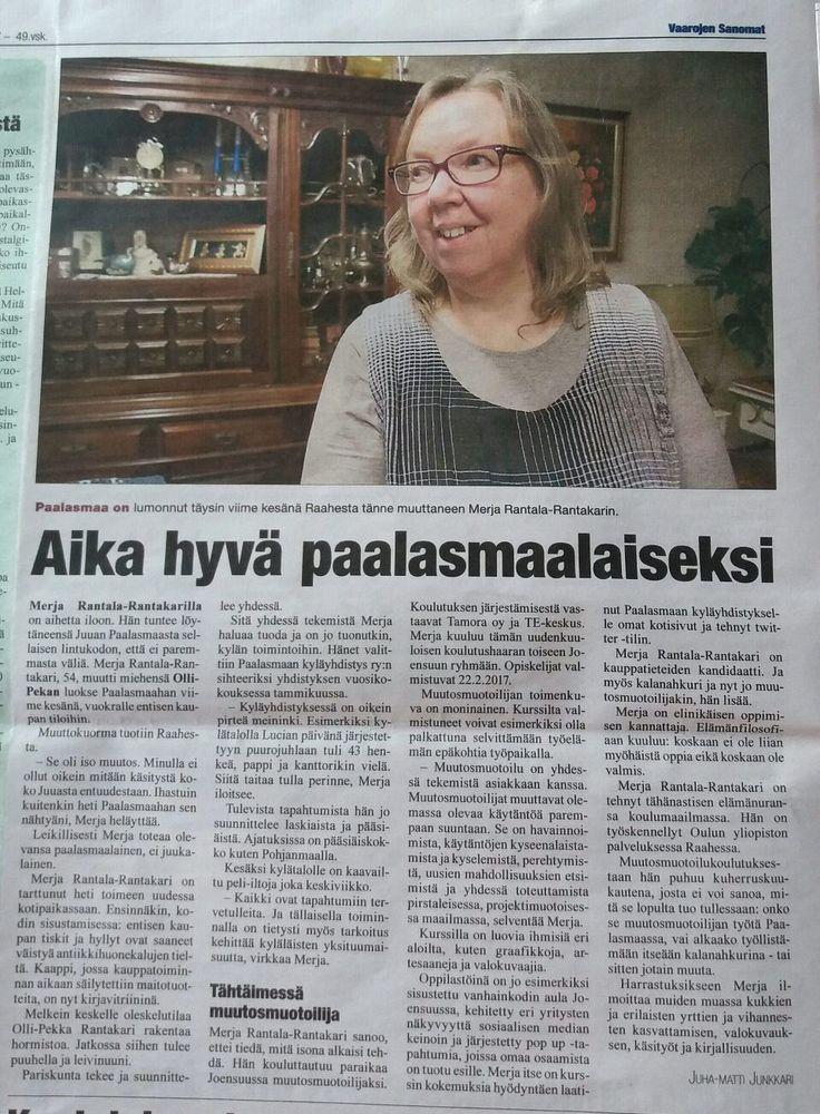 Merja Rantala-Rantakari Vaarojen Sanomien jutussa.