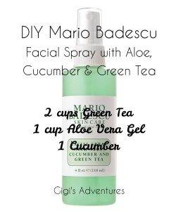 DIY Mario Badescu Facial Spray with Aloe, Cucumber and Green Tea