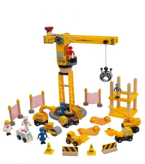 Crane Set consists of various wooden and plastic accessories and parts which will help your kids stay engaged as they play & learn different aspects of building & lifting. Movable crane, ambulance car, lifting dolls, traffic cones & more brings more excitement.Totally safe & fun to spend your time with.