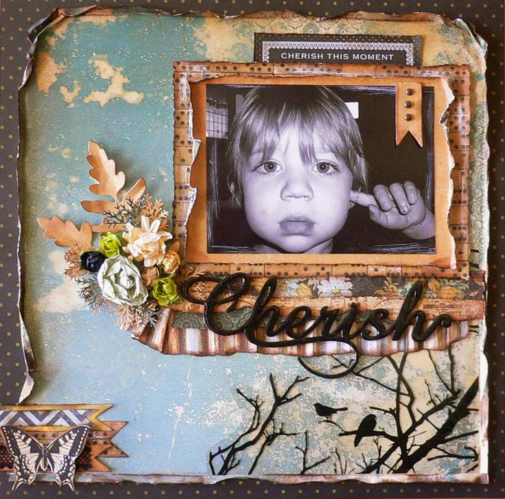 Gorgeous layout using Xyron and Kaisercraft's new 75 cents collection!