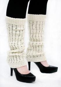 Knit -Säärystimet -Valkoinen