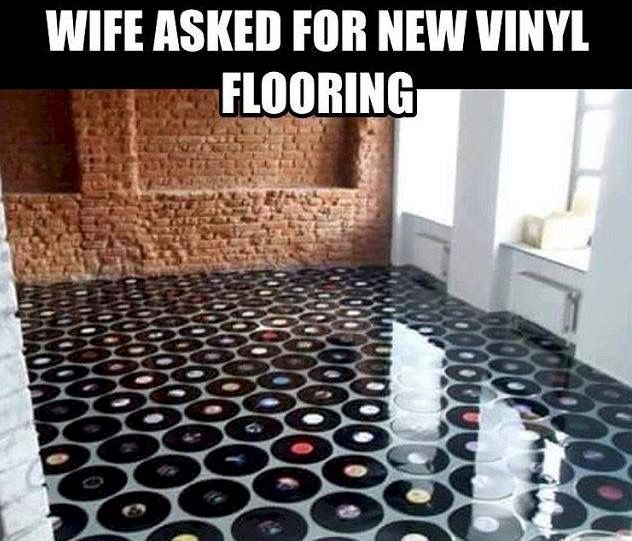 Awesome flooring idea for a music studio!