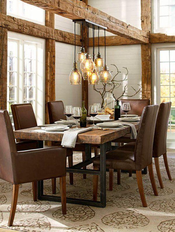 Elegant Massivholzmöbel Rustikale Holzmöbel Esstisch