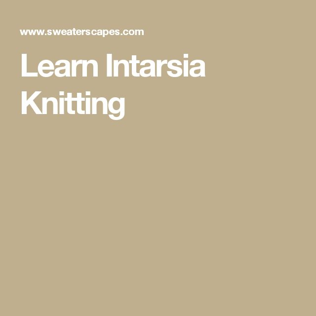 Learn Intarsia Knitting