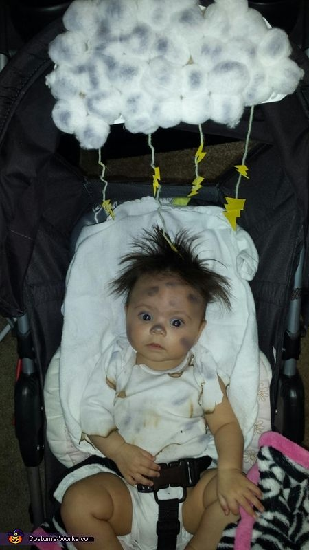 DIY baby costume ideas: Struck by Lightning