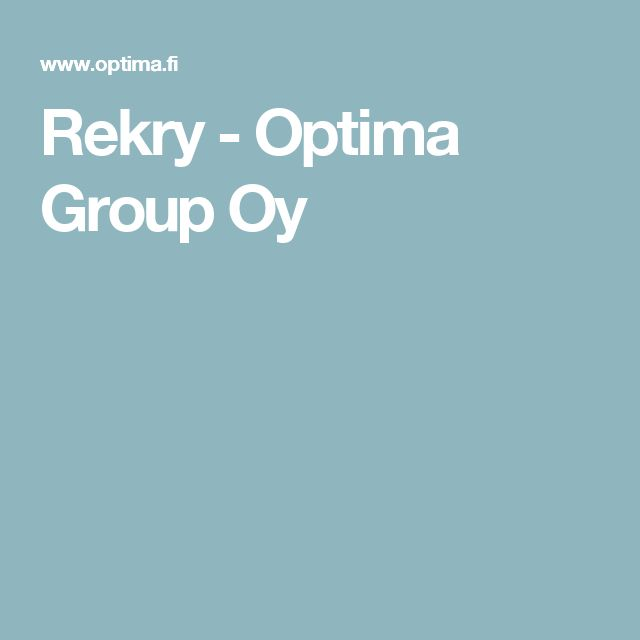 Rekry - Optima Group Oy