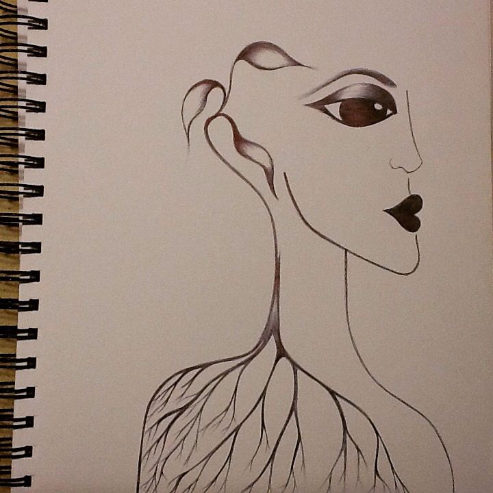 Morphing with Nature series . Pen on paper by Emel Jurd