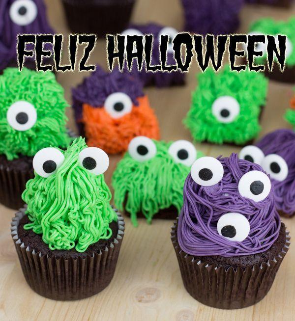 Brownies y cupcakes monstruosos... (Ideas para Halloween, segunda parte)