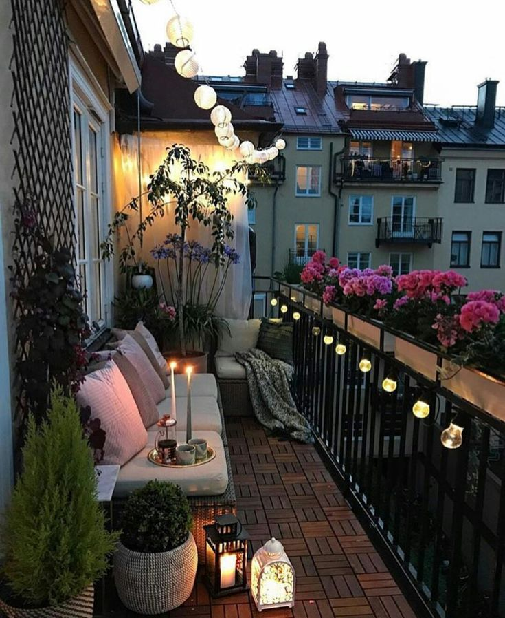 Pingl par emilia sur outdoor living pinterest for Deco balcon terrasse