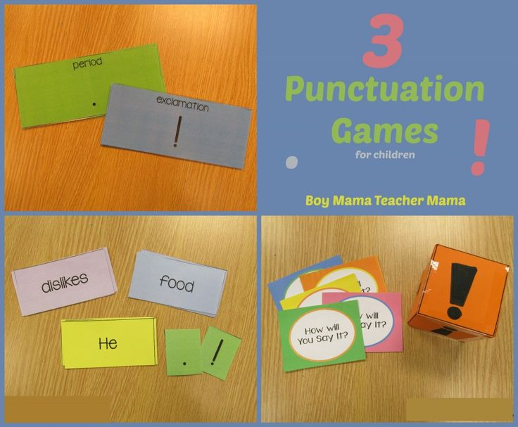Boy Mama Teacher Mama | 3 Punctuation Games for Children