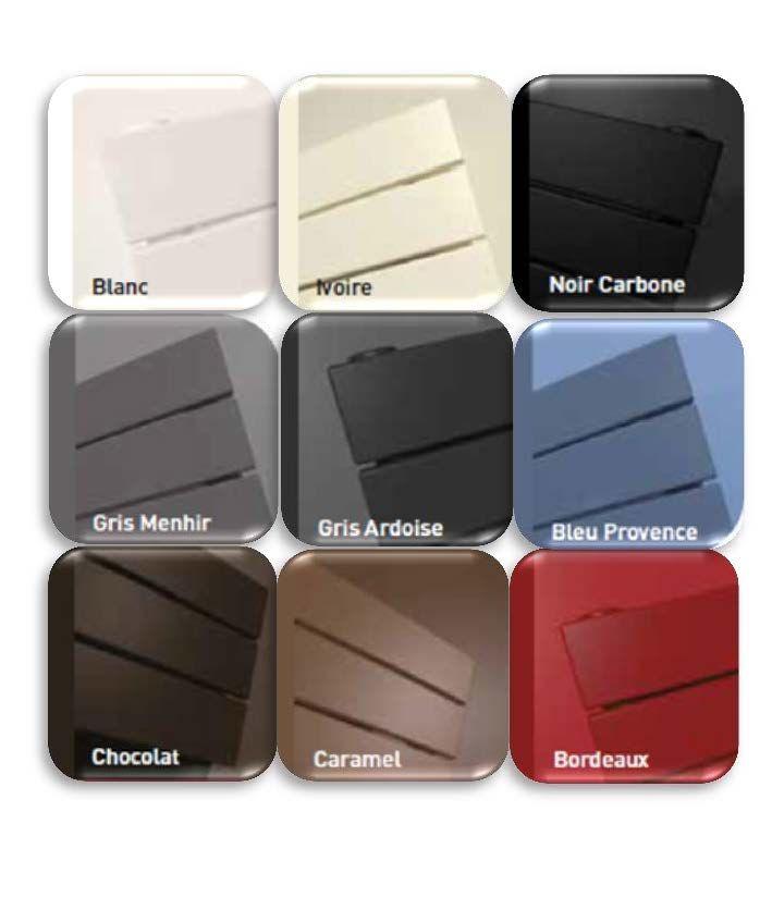 Jouez sur les différentes couleurs des #radiateurs électriques Thermor pour une salle de bains #design. #couleur #noir #gris #chocolat #caramel #ivoire #bordeaux #bleu