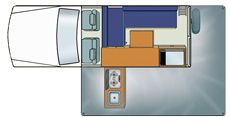 Britz Challenger 4WD - Campervan Hire Australia - Day Plan